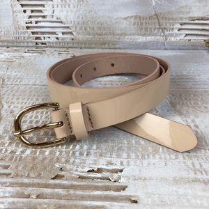 Lands' End Accessories - Lands End blush pink patent leather belt XL 18/20